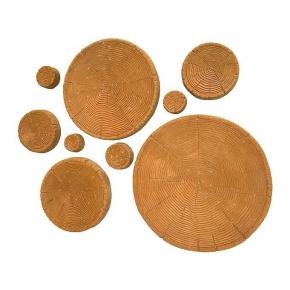 Форма плитки Срезы дерева АБС BF 9 плиток 7-50 см