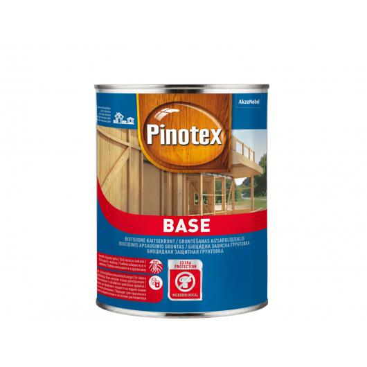 Грунтовка для дерева Pinotex Base впитывающаяся бесцветная