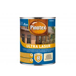 Лазурь фасадная Pinotex Ultra Lasur лаковая с УФ защитой Тиковое дерево - интернет-магазин tricolor.com.ua
