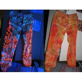 Краска флуоресцентная AcmeLight Fluorescent Textile для ткани оранжевая