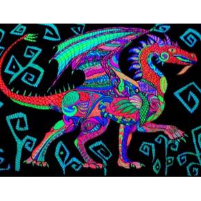 Краска флуоресцентная AcmeLight Fluorescent Oracal для оракала голубая