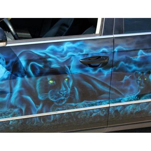 Краска флуоресцентная AcmeLight Fluorescent Metal 2K для металла голубая