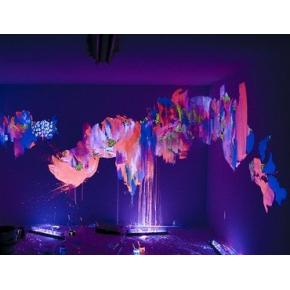 Краска люминесцентная AcmeLight Interior для стен розовая - интернет-магазин tricolor.com.ua
