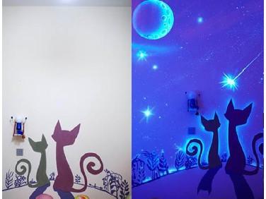 Светящаяся декоративная краска для стен - tricolor.com.ua