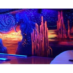 Краска флуоресцентная AcmeLight Fluorescent Interior для интерьера розовая