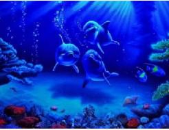 Краска флуоресцентная AcmeLight для интерьера синяя - изображение 2 - интернет-магазин tricolor.com.ua