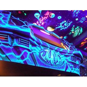 Краска флуоресцентная AcmeLight Fluorescent Interior для интерьера синяя - интернет-магазин tricolor.com.ua