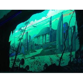 Краска флуоресцентная AcmeLight Fluorescent Interior для интерьера зеленая