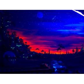 Краска флуоресцентная AcmeLight Fluorescent Interior для интерьера красная - изображение 2 - интернет-магазин tricolor.com.ua