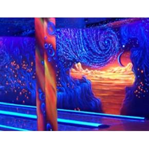 Краска флуоресцентная AcmeLight Fluorescent Interior для интерьера оранжевая - интернет-магазин tricolor.com.ua