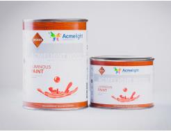 Краска светящаяся AcmeLight для дерева оранжевая - изображение 2 - интернет-магазин tricolor.com.ua