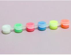 Набор люминесцентных красок для творчества AcmeLight 6x2 мл - изображение 2 - интернет-магазин tricolor.com.ua