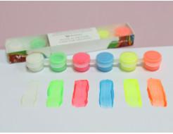 Набор люминесцентных красок для творчества AcmeLight 6x2 мл - изображение 4 - интернет-магазин tricolor.com.ua