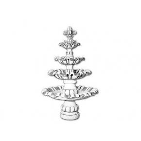 Форма декора Фонтан Жемчужина Стеклопластик BF H-280 4 детали