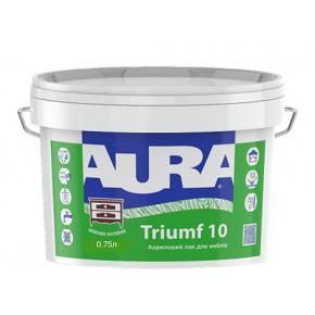 Лак акриловый Aura Triumf 10 для мебели шелковисто-матовый