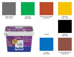 Эмаль акриловая Aura Luxpro Remix Anticor 3 в 1 антикоррозионная  RAL 8017 темно-коричневая - изображение 2 - интернет-магазин tricolor.com.ua