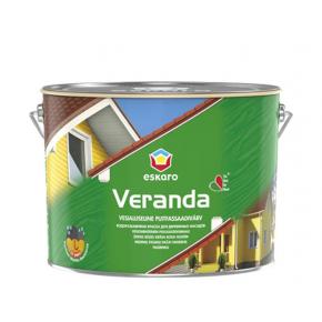 Краска масляно-акриловая для дерева Eskaro Veranda полуматовая белая