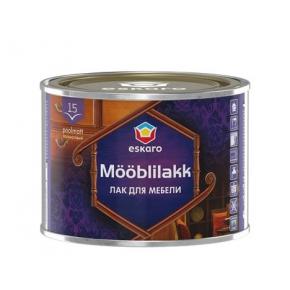 Лак акриловый для мебели Eskaro Mooblilakk 15 TR прозрачный полуматовый