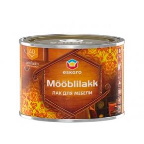 Лак акриловый для мебели Eskaro Mooblilakk 40 TR прозрачный полуглянцевый