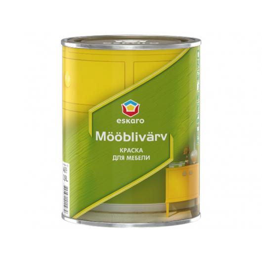 Краска акриловая для мебели Eskaro Mooblivarv моющаяся белая
