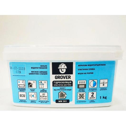 Мастика гидроизоляционная акриловая Grover MW301 эластичная
