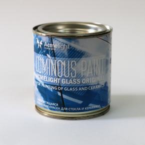 Краска люминесцентная AcmeLight Glass Original для стекла обжиговая голубая - изображение 2 - интернет-магазин tricolor.com.ua
