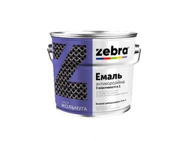 Антикоррозионная эмаль 3в1 «Кольчуга» Zebra глянцевая белая
