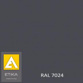 Краска порошковая полиэфирная Etika Elektro Графитово-серая RAL 7024 глянцевая