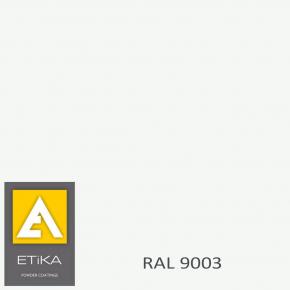 Краска порошковая полиэфирная Etika Elektro Сигнальная белая RAL 9003 шагрень