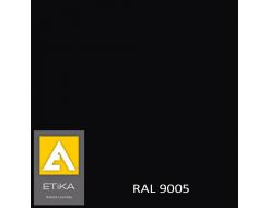 Краска порошковая полиэфирная Etika Elektro Черная RAL 9005 матовая