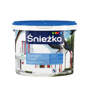 Краска акриловая Sniezka Standart Fasad белая матовая