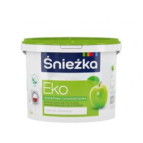 Краска акриловая Sniezka Eko матовая белая гипоаллергенная для стен и потолков