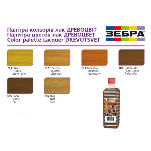 Лак цветной полуглянцевый «Древоцвет» Zebra дуб - изображение 2 - интернет-магазин tricolor.com.ua