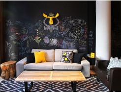 Интерьерная акриловая грифельная краска Flugger Interior Blackboard Finish черная матовая - изображение 2 - интернет-магазин tricolor.com.ua