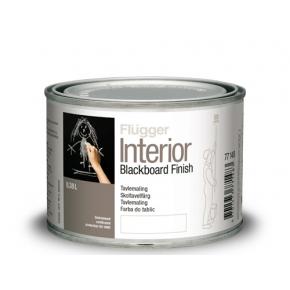 Интерьерная акриловая грифельная краска Flugger Interior Blackboard Finish черная матовая