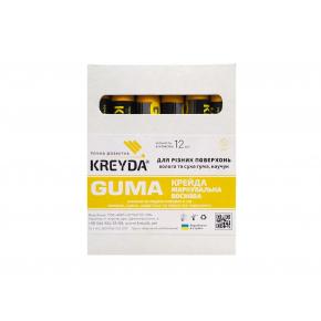 Мел восковой разметочный для резины Kreyda Guma (желтый) 12 шт