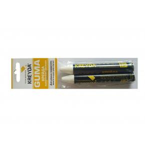 Мел восковой разметочный для резины Kreyda Guma (белый) 2 шт
