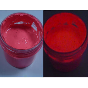 Краска люминесцентная AcmeLight Plastic 2K для пластика красная