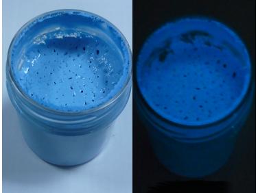 Краска люминесцентная AcmeLight для пластика (2К) синяя