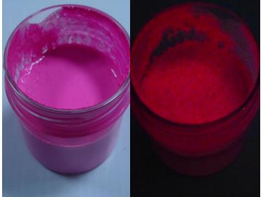 Краска люминесцентная AcmeLight для пластика (2К) розовая