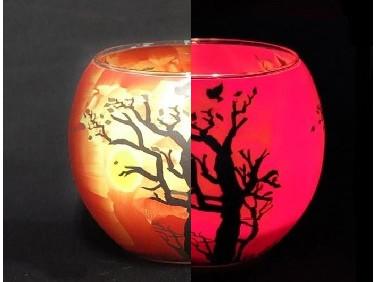 Краска люминесцентная AcmeLight для стекла (2К) красная