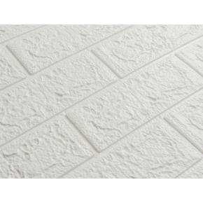 Самоклеящаяся декоративная 3D панель «Кирпич» 5 мм #1 белая - изображение 2 - интернет-магазин tricolor.com.ua
