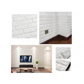 Самоклеящаяся декоративная 3D панель «Кирпич» 5 мм #1 белая - изображение 8 - интернет-магазин tricolor.com.ua