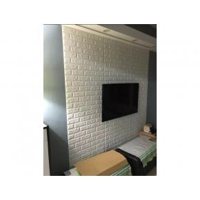 Самоклеящаяся декоративная 3D панель «Кирпич» 5 мм #1 белая - изображение 6 - интернет-магазин tricolor.com.ua