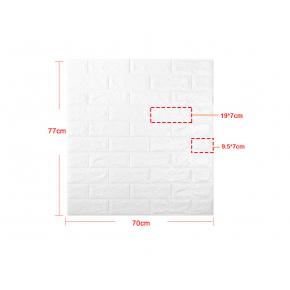 Самоклеящаяся декоративная 3D панель «Кирпич» 7 мм #1 белая - изображение 10 - интернет-магазин tricolor.com.ua