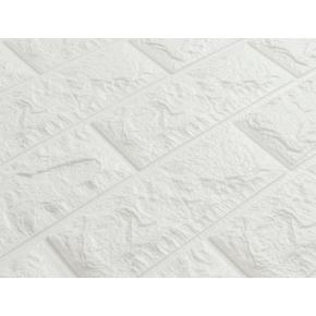 Самоклеящаяся декоративная 3D панель «Кирпич» 7 мм #1 белая - изображение 2 - интернет-магазин tricolor.com.ua