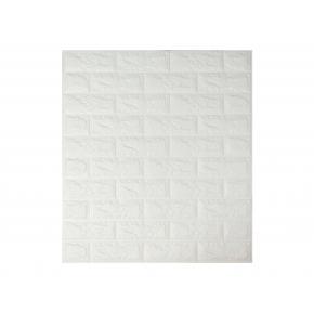Самоклеящаяся декоративная 3D панель «Кирпич» 7 мм #1 белая - интернет-магазин tricolor.com.ua