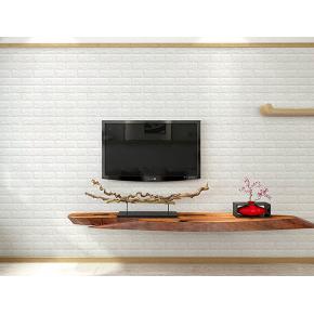 Самоклеящаяся декоративная 3D панель «Кирпич» 7 мм #1 белая - изображение 5 - интернет-магазин tricolor.com.ua