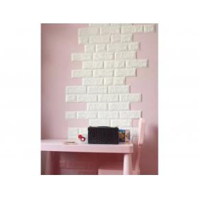 Самоклеящаяся декоративная 3D панель «Кирпич» 7 мм #1 белая - изображение 4 - интернет-магазин tricolor.com.ua