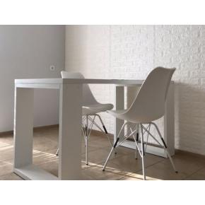 Самоклеящаяся декоративная 3D панель «Кирпич» 7 мм #1 белая - изображение 6 - интернет-магазин tricolor.com.ua